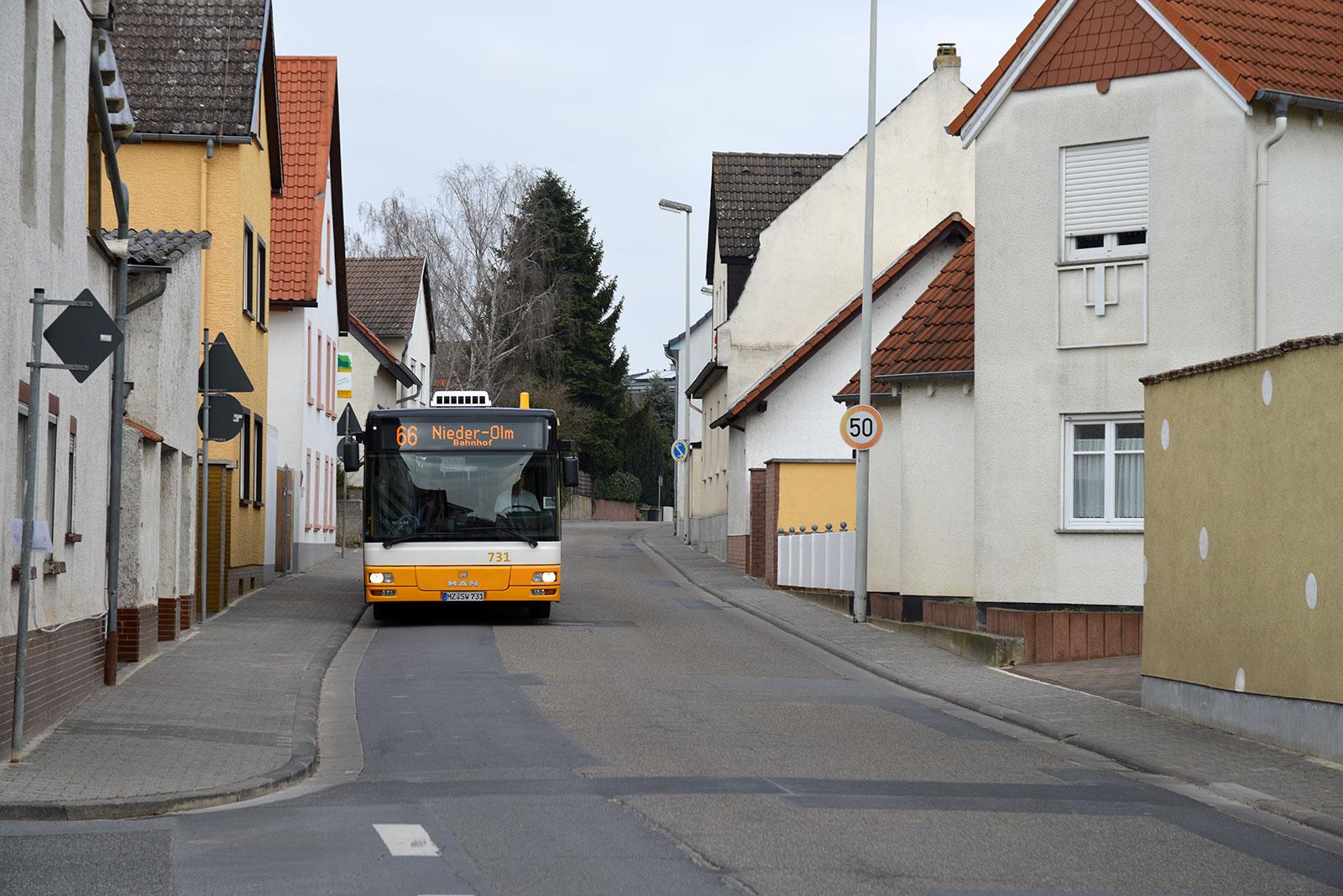 Gut angebunden mit dem Bus