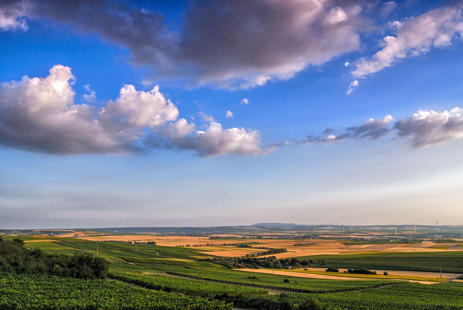 Blick von Alzey in Richtung Donnersberg