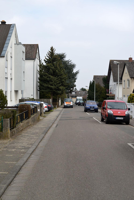 Ein Blick die Straße entlang