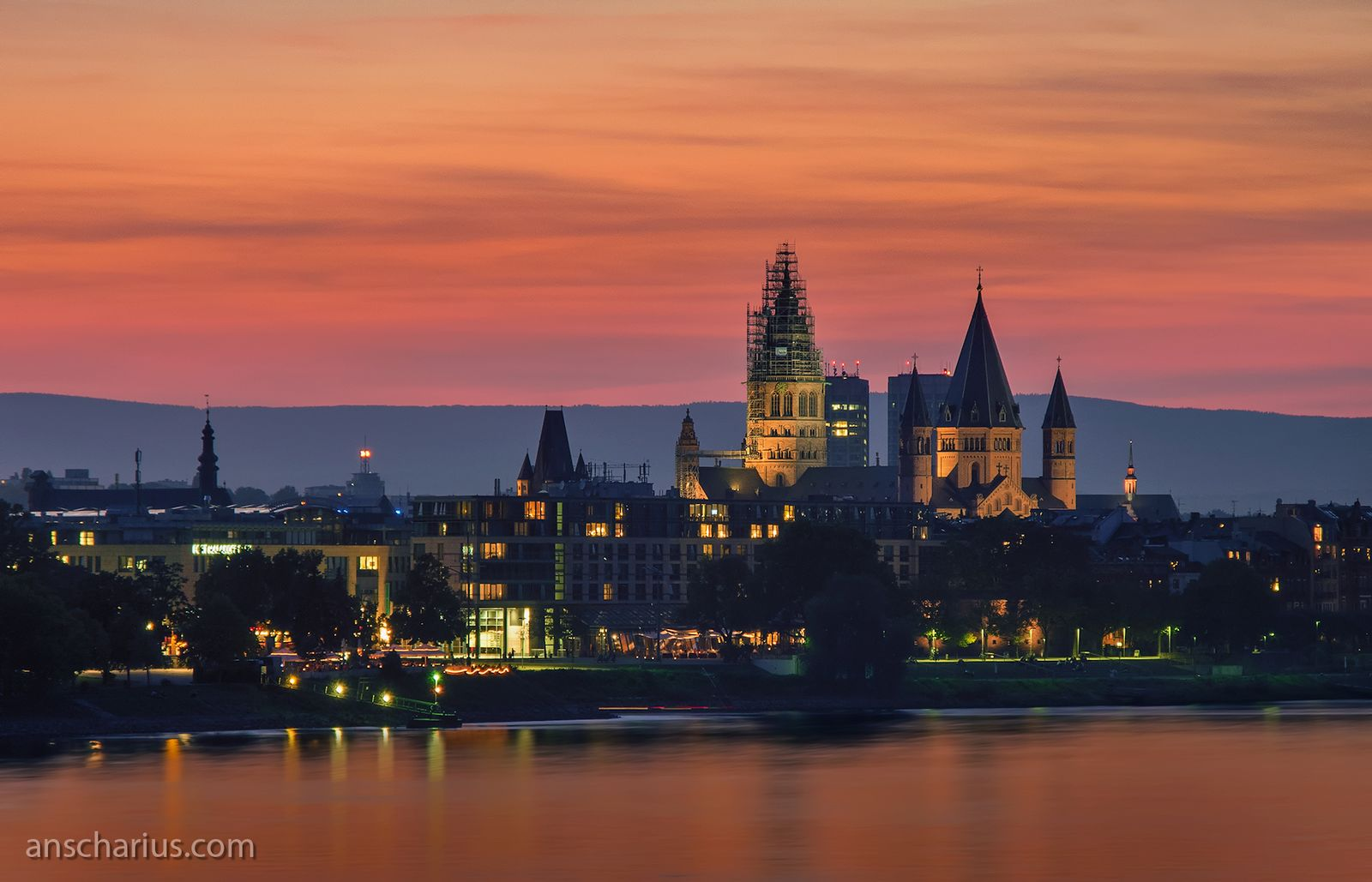 Abendstimmung in Mainz